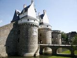 Ramparts of the Chateau Des Ducs De Bretagne  Nantes  Brittany  France  Europe