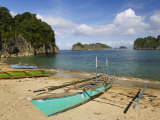 Colourful Fishing Boat on Gota Beach  Caramoan National Park  Southeast Luzon  Philippines