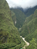 Urubamba River Flows Below Machu Picchu  Peru  South America