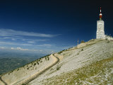 Summit of Mont Ventoux in Vaucluse  Provence  France  Europe