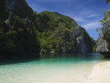 Miniloc Island  Big Lagoon  Bacuit Bay  El Nido Town  Palawan Province  Philippines  Southeast Asia