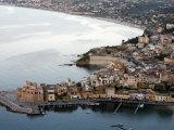 View over Castellammare Del Golfo  Sicily  Italy  Mediterranean  Europe