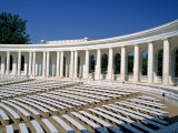 Colonnaded Amphitheater of the Arlington Cemetery in Virginia  USA