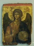 14th Century Icon of Archangel Michael in the Byzantine Museum in Athens, Greece, Europe Papier Photo par Gavin Hellier
