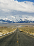 Never Ending Straight Road on US Route 50  the Loneliest Road in America  Nevada  USA