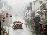 Traditional Old Riverside Houses in Shantang Water Town  Suzhou  Jiangsu Province  China