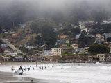 Surfers at Linda Mar Beach  Pacifica  California  United States of America  North America
