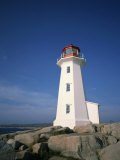 Lighthouse at Peggys Cove Near Halifax in Nova Scotia  Canada  North America