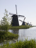 Kinderdijk Windmills  UNESCO World Heritage Site  Holland  Europe