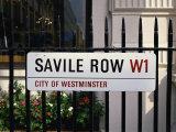 Savile Road  Street Sign  London  England  United Kingdom  Europe