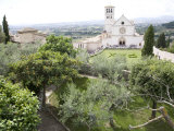 Basilica of San Francesco  and the Valley of Peace  Assisi  Umbria  Italy