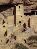Cliff Palace Dating from Between 1200 and 1300 Ad at Mesa Verde  Colorado  USA