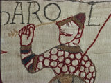 Death of King Harold Showing an Arrow in His Eye  Bayeux Tapestry  Bayeux  Normandy  France  Europe