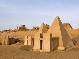 Pyramids of Meroe  Sudan  Africa