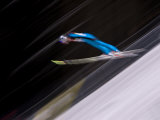 Ski Jumper in Action  Torino  Italy