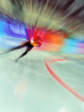 Blurred Action of Speed Skater
