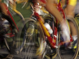 Detail of Blurred Cycling Action