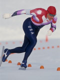 Male Speed Skater in Action