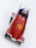 Two Man Bobsled in Action  Torino  Italy