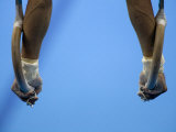 Male Gymnast Competing on Rings in Men's Qualification  2004 Olympic Summer Games  Athens  Greece