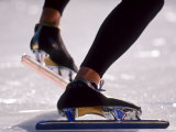 Detail of Speed Skater S Feet at the Start  Inzell