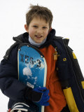Portrait of Young Boy Snowboarder Model Release 2612  New York  USA