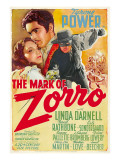 The Mark of Zorro  Linda Darnell  Tyrone Power on Argentinian Poster Art  1940