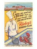 Rickey's Studio Club  Lobster  Palo Alto  California