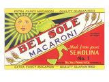 Bel Sole Macaroni Label