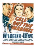 Call Out the Marines  Victor Mclaglen  Binnie Barnes  Edmund Lowe on Window Card  1942