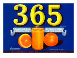365 Orange Crate Label