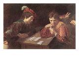Renaissance Card Game  Painting