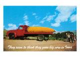 Giant Ear of Corn on Truck  Iowa