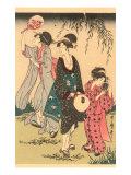 Japanese Woodblock  Geishas