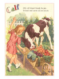 Calf  Little Girl with Vegetable Cart