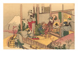 Japanese Woodblock  Tea Ceremony