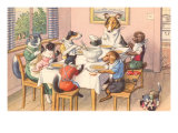 Dogs and Cats at Supper