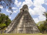 Tower 1  Mayan Ruins in the Gran Plaza  Tikal  Guatemala