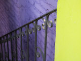 Iron Railing Against Colorful Walls  San Miguel  Guanajuato State  Mexico
