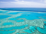 Aerial of the Great Barrier Reef  Whitsunday Coast  Queensland  Australia