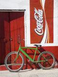 Bicycle Against Storefromt  Rio Lagartos  Yucatan  Mexico