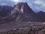 Desert Village in the Foothills of Mt Sinai  Egypt