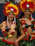 Native Dancers  Huahine  Tahiti  French Polynesia  Oceania