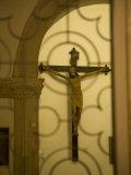 Statue of Jesus Christ on cross  Franciscan Monastery  Dubrovnik  Dalmatia  Croatia