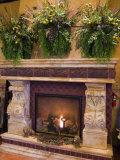 Ornate Fireplace  Tsillan Winery  Columbia Valley Appellation  Washington  USA