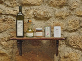 Various olive oil containers  Monteriggioni  Tuscany  Italy