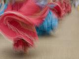 Cuenca Swirling Skirt of Female Dancers  Cuenca  Ecuador