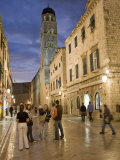 Stradun  Dubrovnik  Dalmatia  Croatia