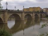 Bridge over Rio Ebro in Logrono  La Rioja  Spain