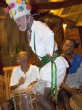 Traditional Garifuna Masked Dancer  Placencia  Stann Creek District  Belize